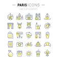 Paris Line Icons 7 vector image vector image