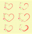 pastel roses and hearts vector image vector image