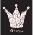 Princess Crown Pearl Background vector image