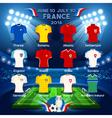 Qualified Teams EURO 2016 vector image