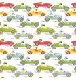 race retro sport car seamless pattern vector image vector image