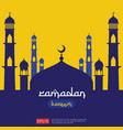 ramadan kareem islamic greeting design with dome vector image