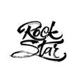 Rock star modern calligraphy hand lettering