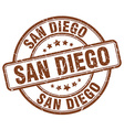 San Diego stamp vector image vector image