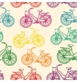 Seamless pattern with outline colorful rainbow vector image
