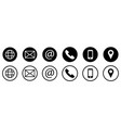 set contact us icons vector image