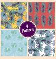 set of summer colorful hawaiian seamless pattern vector image vector image