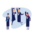students graduations cartoons vector image