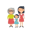 three ages of women from child to senior vector image