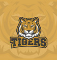 tigers abstract sign emblem or logo vector image vector image