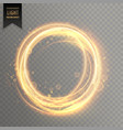 transparent light effect with circlular golden vector image vector image