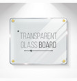 transparent shining glass beautiful blank vector image vector image