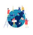 travel around world - colorful flat design vector image