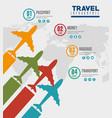 travel around world infographics vector image vector image