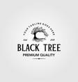 vintage olive tree logo retro emblem label design vector image vector image