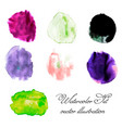 watercolor blots set vector image vector image