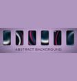 wavy abstract smartphone set vector image vector image