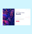 web page design template for beauty vector image vector image
