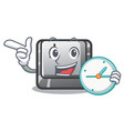 with clock button j isolated in cartoon vector image vector image