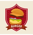 burger isolated design vector image
