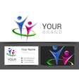business card for your business with the logo of vector image