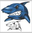 cartoon shark mascot vector image