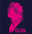 Girl in a night club after the hour vector image