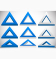 3d triangle shape in more colors set at different vector image vector image
