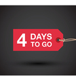 4 days left sale vector image vector image