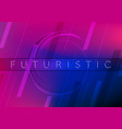 abstract neon tech geometric background vector image vector image