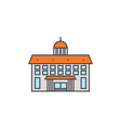 administrative building line icon concept vector image vector image
