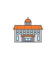 administrative building line icon concept vector image