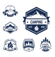 adventure summer outdoor camping isolated labels vector image vector image