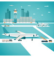 airport concept vector image