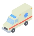 Ambulance icon isometric 3d style vector image vector image