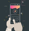 augmented reality navigation and travel mobile app vector image vector image