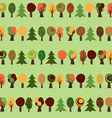 Autumn Semaless Pattern Yellow Red and Green Trees vector image vector image