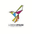 awesome bird line logo design vector image vector image
