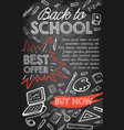 back to school sale offer or discount promo banner vector image vector image