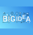 big idea 2019 word trendy composition concept vector image vector image