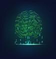 binary brain vector image