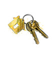 bunch of keys with house shaped trinket vector image