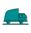 cargo truck vehicle vector image