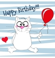 Cat with balloon vector image vector image