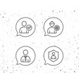 check user engineer and businessman line icons vector image vector image