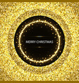christmas glittering background vector image vector image