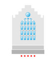 church building icon flat style vector image vector image