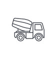 concrete mixing truck thin line icon linear vector image vector image