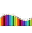 crayons - seamless row colored pencil like wave vector image vector image