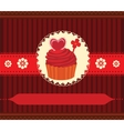 Cupcake invitation card vector image